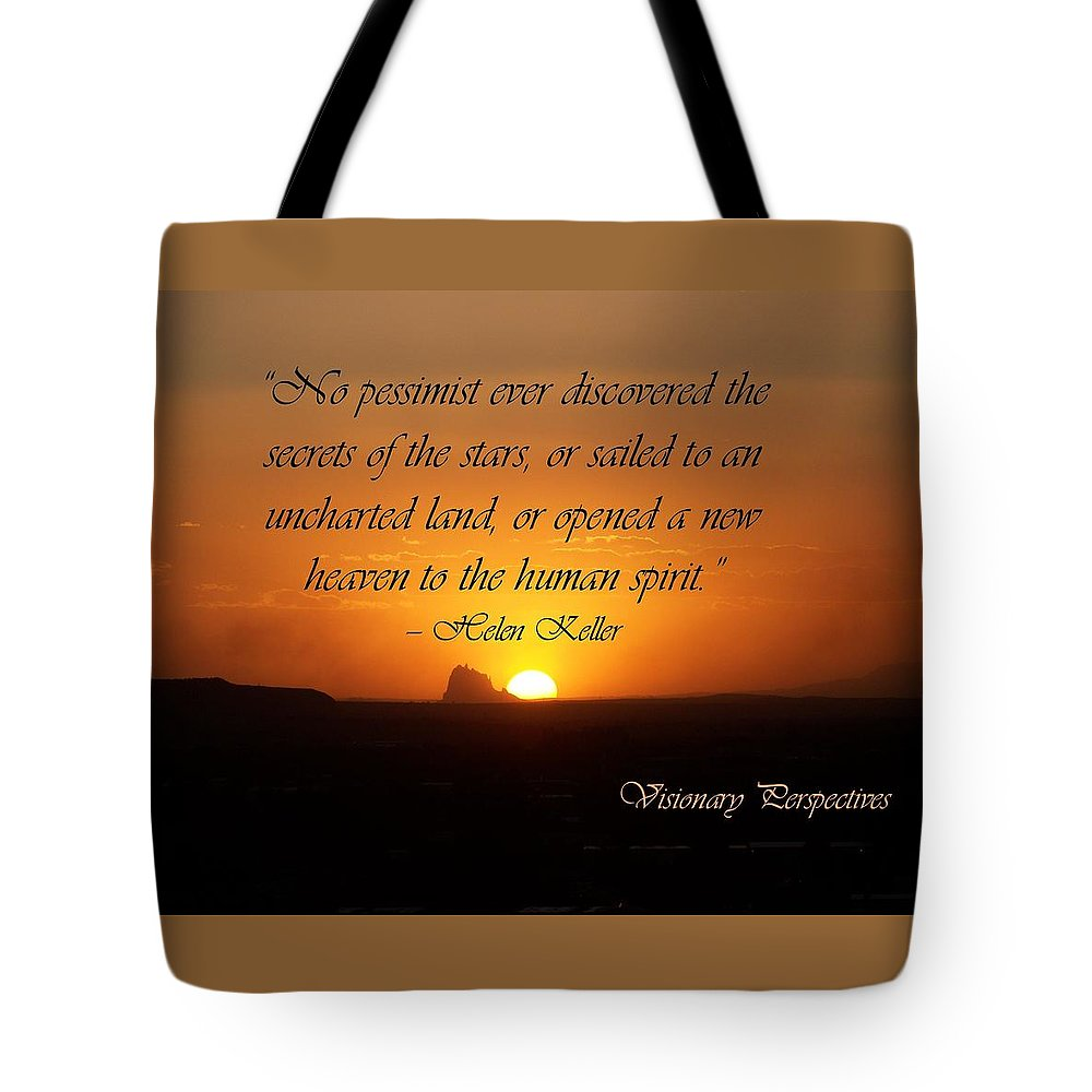 Helen Keller Quote Tote Bag featuring the digital art Human Spirit by Jewell McChesney