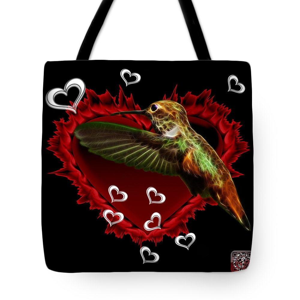 Hummingbird Tote Bag featuring the digital art Hummingbird - 2055 F by James Ahn