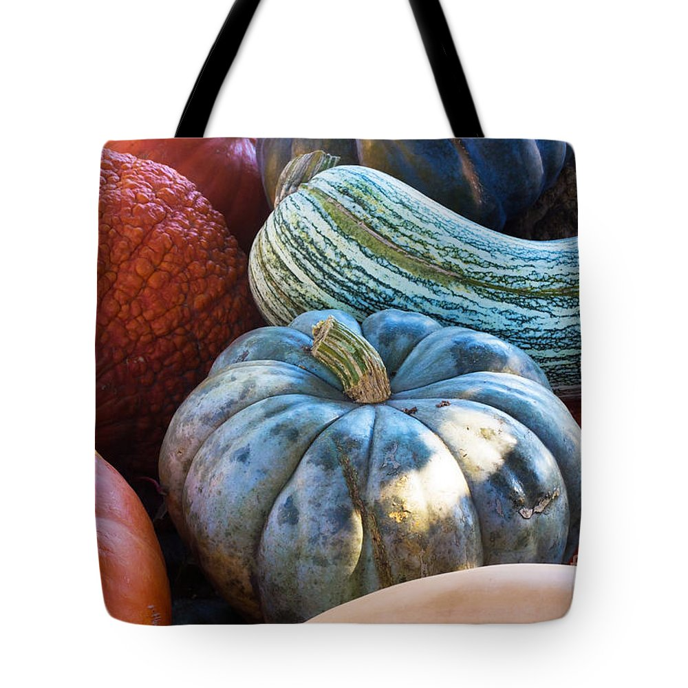 Gourds Tote Bag featuring the photograph Humungous Edible Gourds by Barbara McMahon
