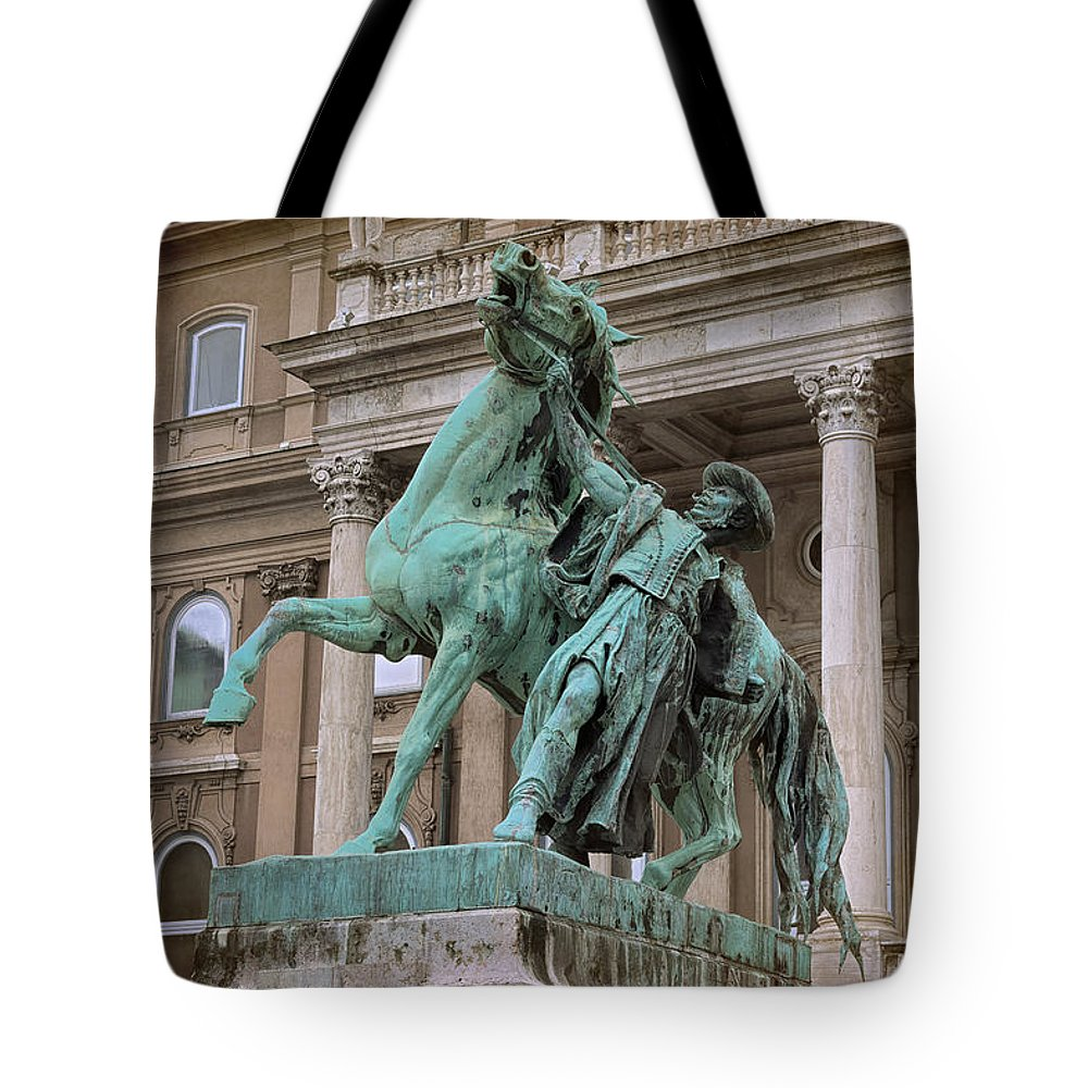 Joan Carroll Tote Bag featuring the photograph Hungarian Cowboy by Joan Carroll