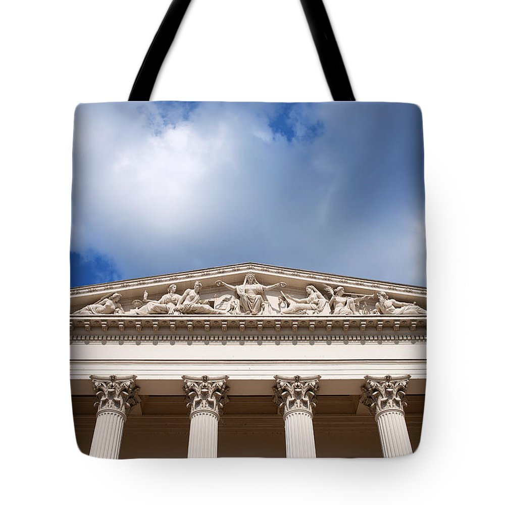 Hungarian Tote Bag featuring the photograph Hungarian National Museum Architectural Details by Artur Bogacki