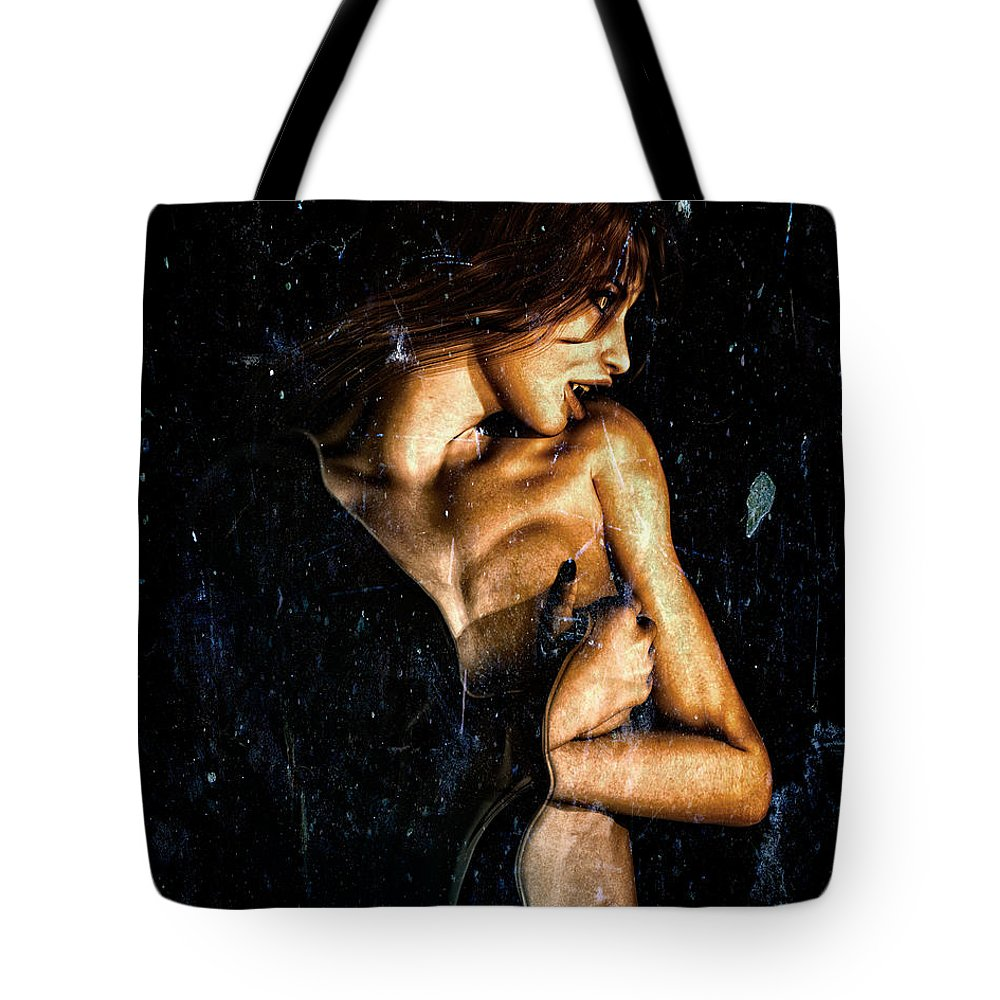 Vampire Tote Bag featuring the digital art Hunger by Bob Orsillo