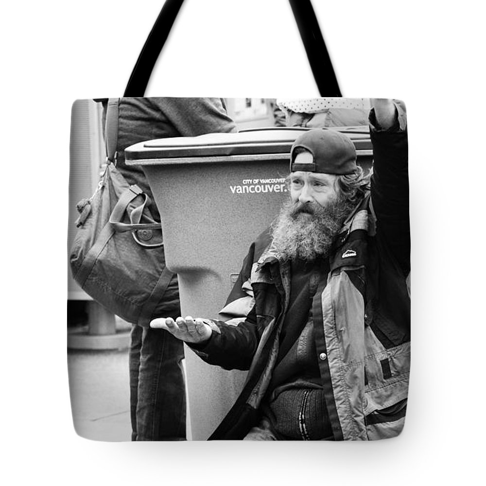 Street Photography Tote Bag featuring the photograph Hungry City by The Artist Project