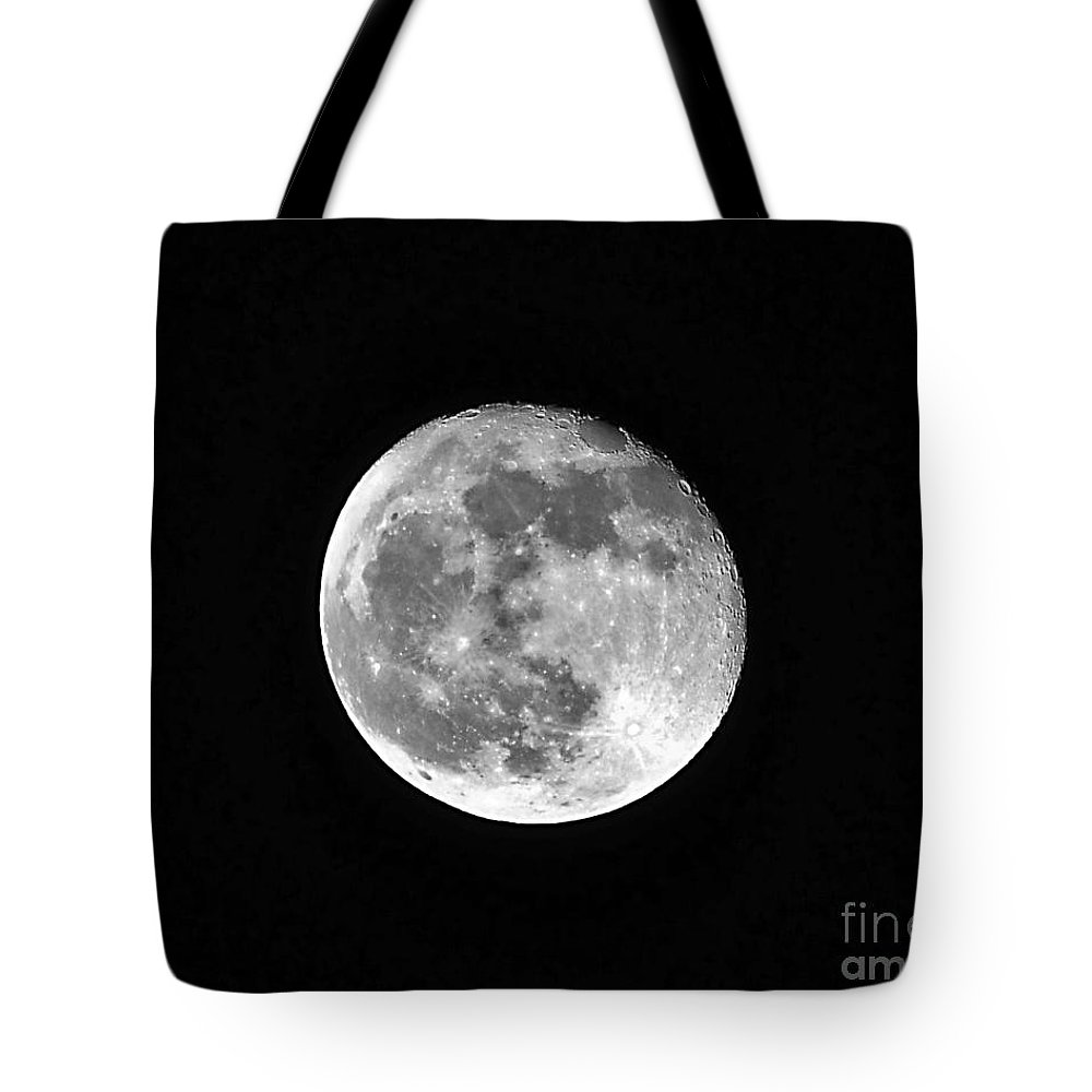 Moon Tote Bag featuring the photograph Hunters Moon by Al Powell Photography USA