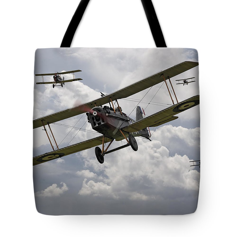 Aircraft Tote Bag featuring the digital art Hunting Pack by Pat Speirs