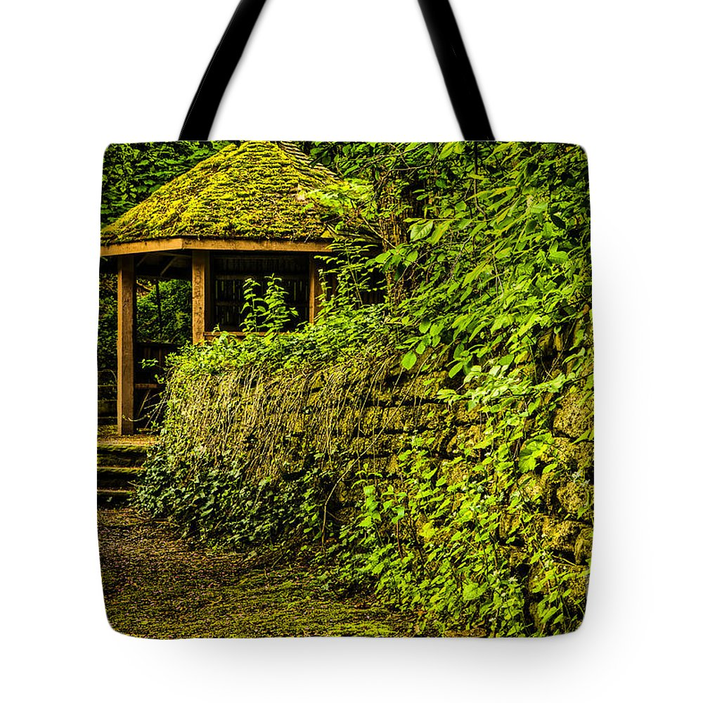 Wood Tote Bag featuring the photograph Hut In The Forest by Mary Smyth