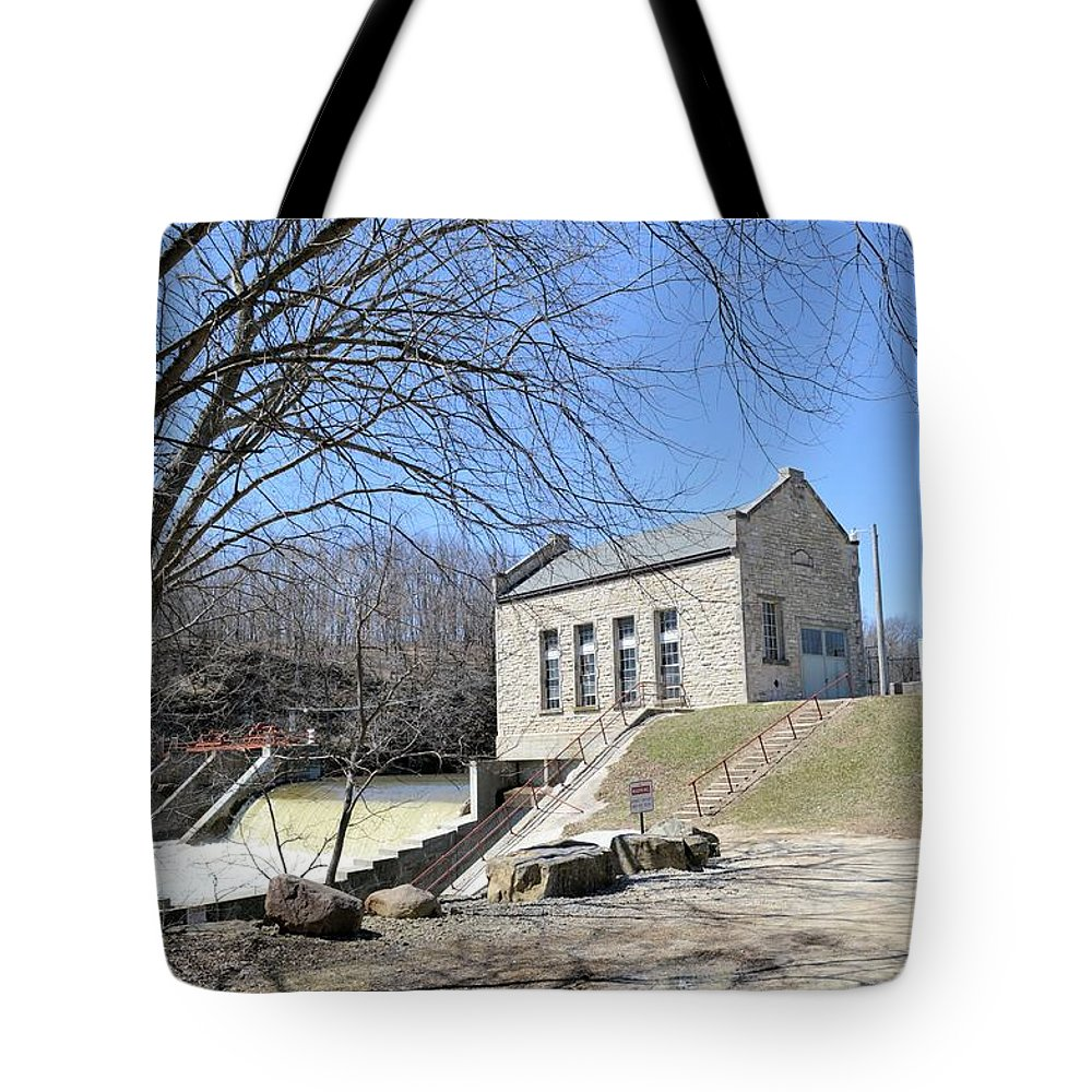 Dam Tote Bag featuring the photograph Hydo-power by Bonfire Photography