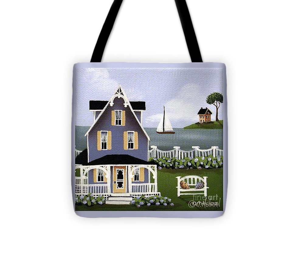 Art Tote Bag featuring the painting Hydrangea Cove by Catherine Holman