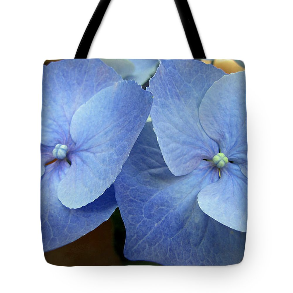 Duane Mccullough Tote Bag featuring the photograph Hydrangea Flower Set by Duane McCullough