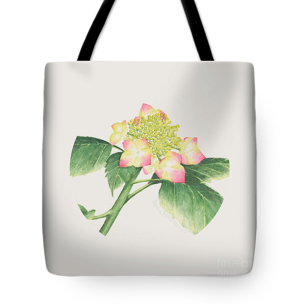 Flower Tote Bag featuring the painting Hydrangea by Sandra Neumann Wilderman
