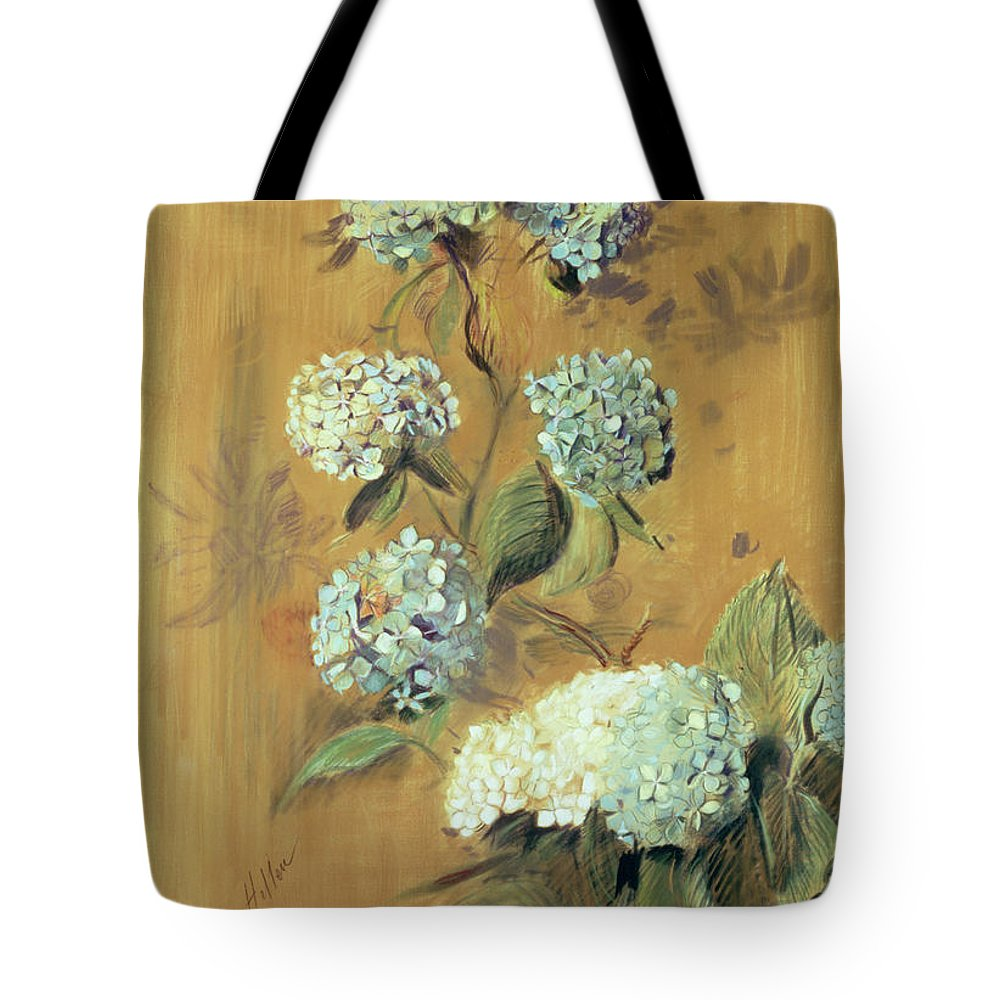 Bloom Tote Bag featuring the painting Hydrangeas by Paul Cesar Helleu