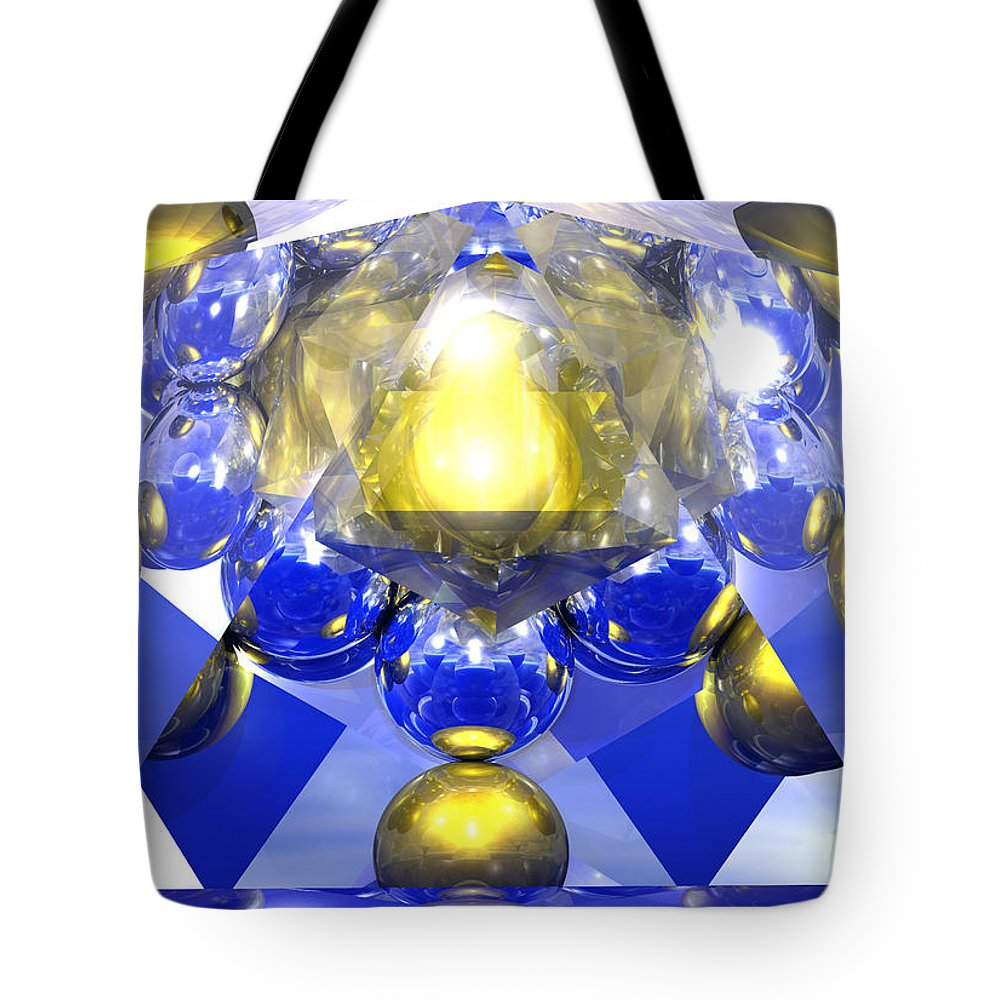 Sacred Geometry Tote Bag featuring the digital art Hyper Shift by Apollo Environmental Artist