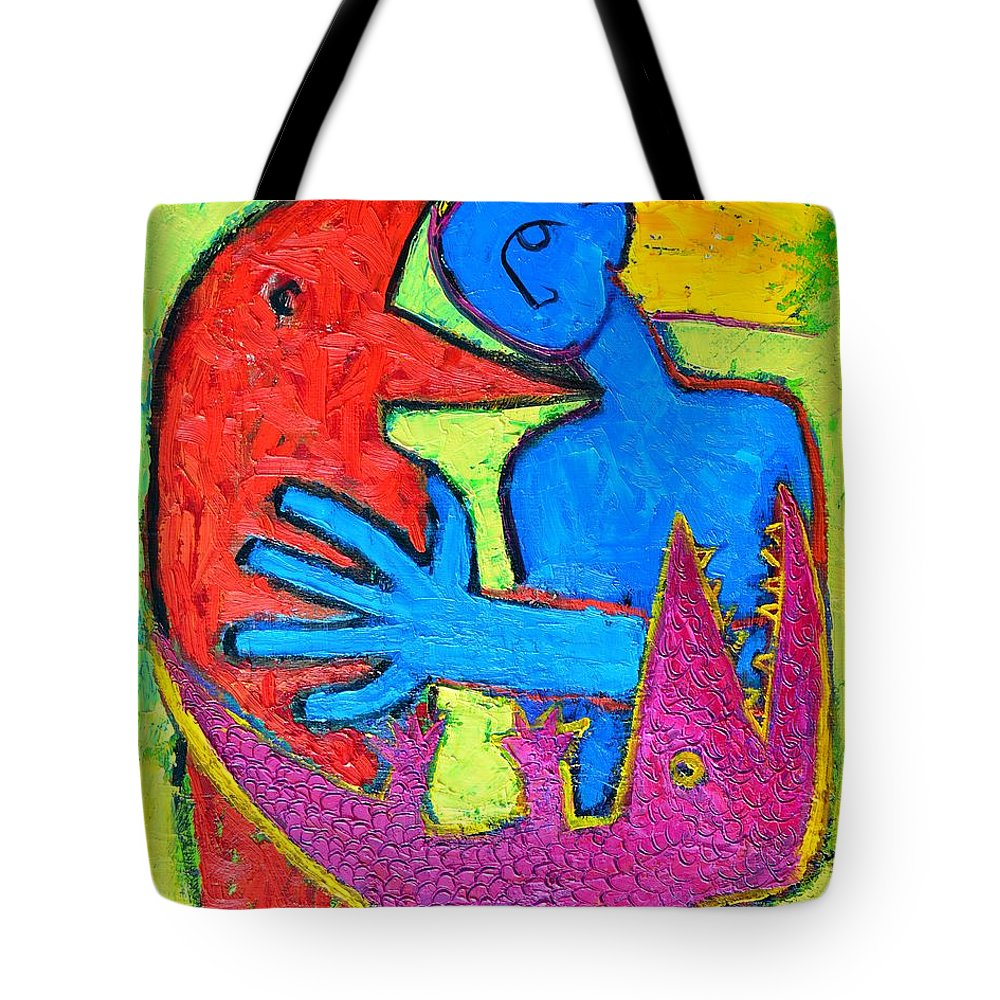 Crow Tote Bag featuring the painting I Am Blue But Still Alive Do Not Eat Me by Ana Maria Edulescu
