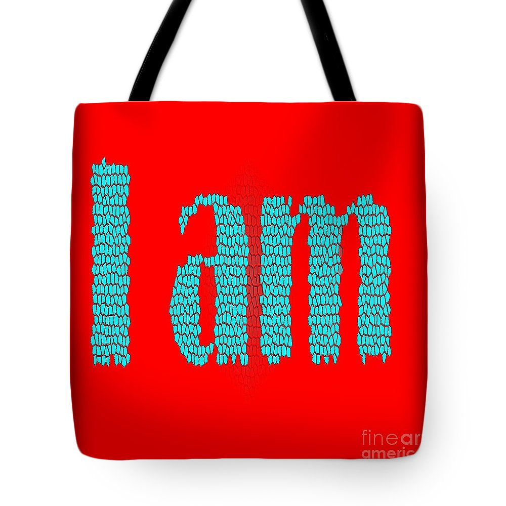 I Am Tote Bag featuring the digital art I Am by Eliso Silva