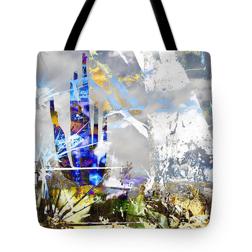 Desert Tote Bag featuring the digital art We Are Life, Liberty And The Pursuit Of Happiness, As We Create Reality Both Individually - Winter 6 by Arthur BRADford Klemmer