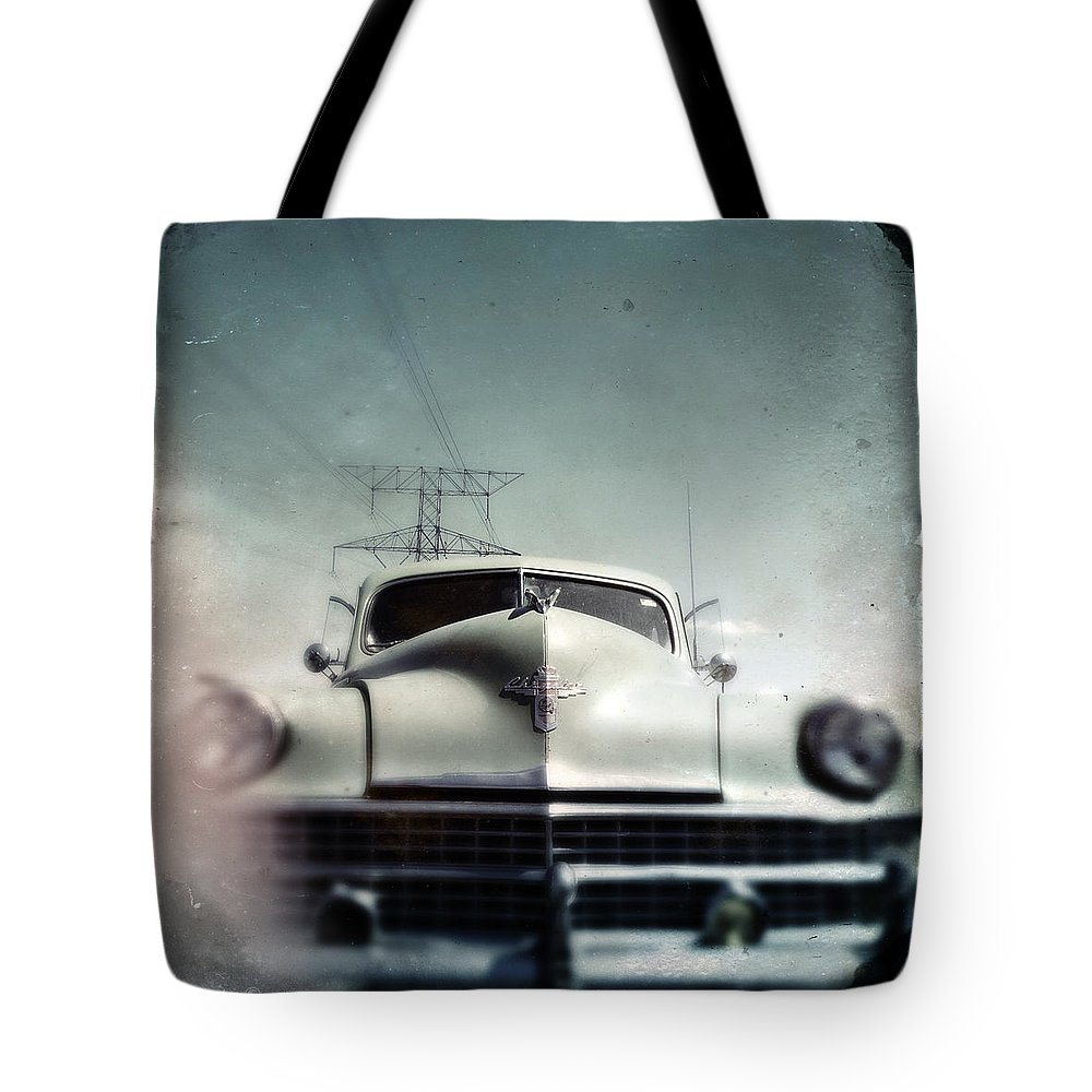 Car Tote Bag featuring the photograph i got me a Chrysler it's as big as a whale by Tim Nyberg