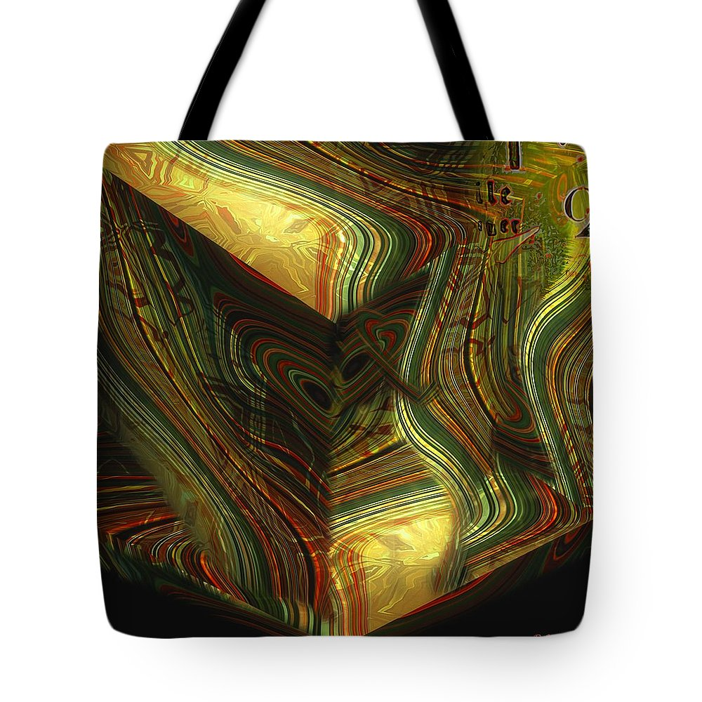 Abstract Tote Bag featuring the painting I Have Set Aside A Block Of Time by RC DeWinter