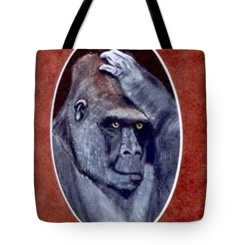 Wildlife Tote Bag featuring the painting I Knew That by Catherine Swerediuk