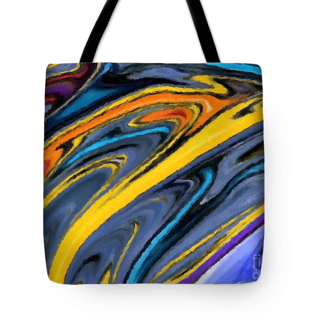 Abstract Tote Bag featuring the digital art I Like It by Chris Butler