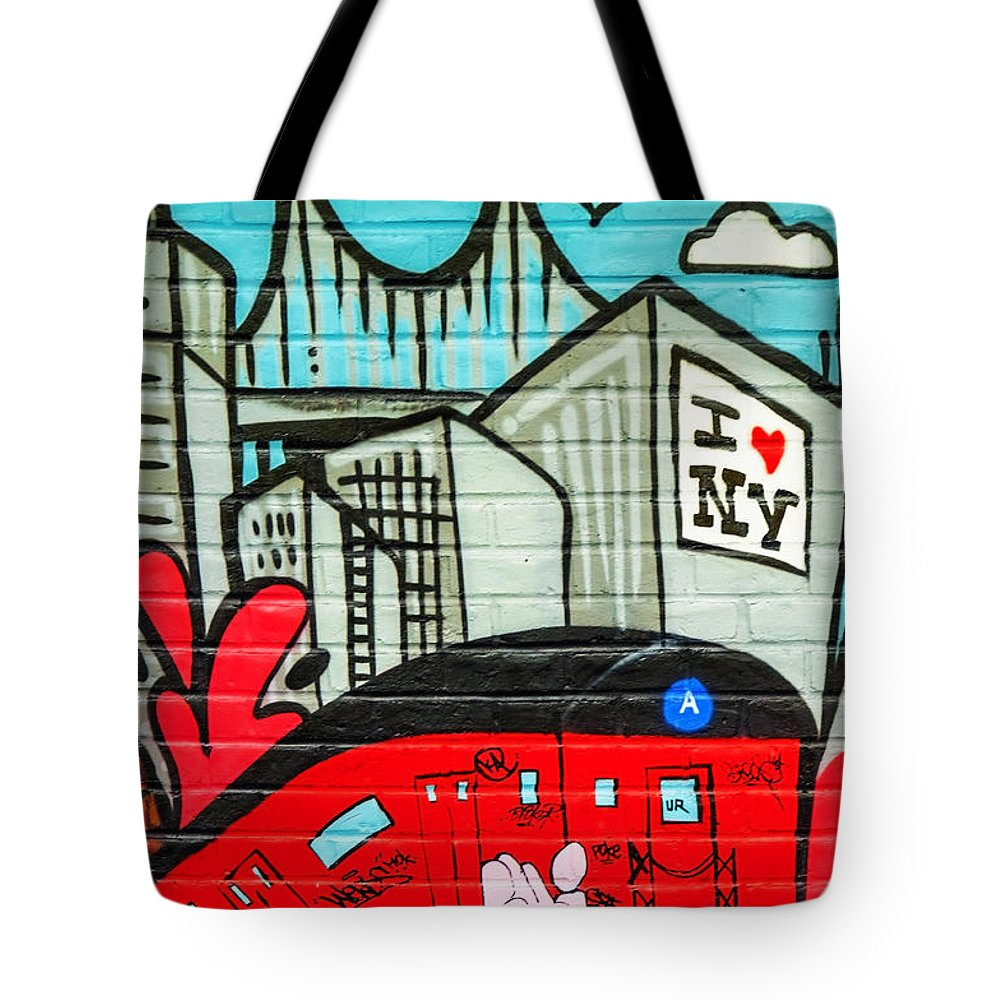 I Love New York Tote Bag featuring the photograph I Love New York Street Art by Regina Geoghan