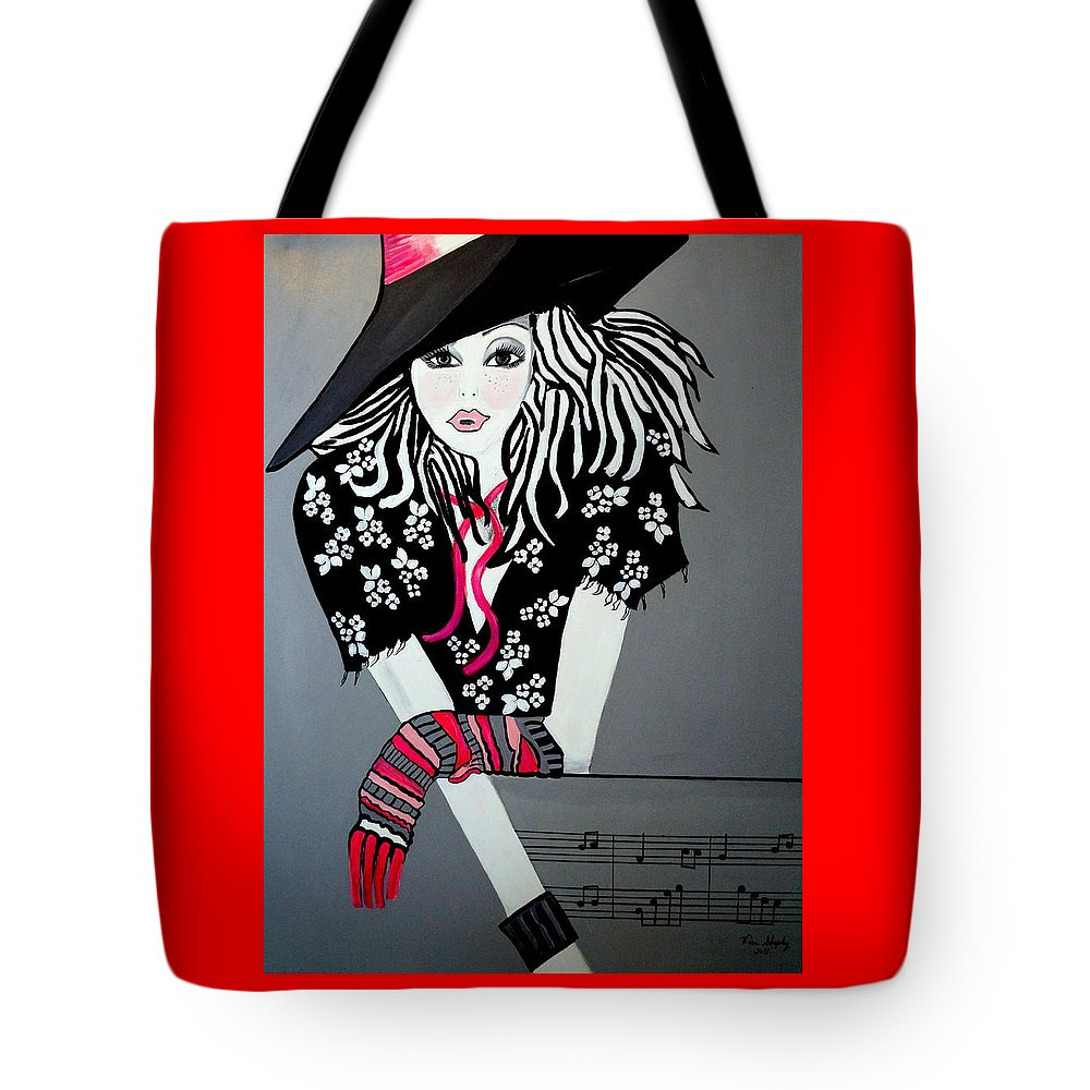 Rock And Roll Tote Bag featuring the painting I Love Rock And Roll by Nora Shepley