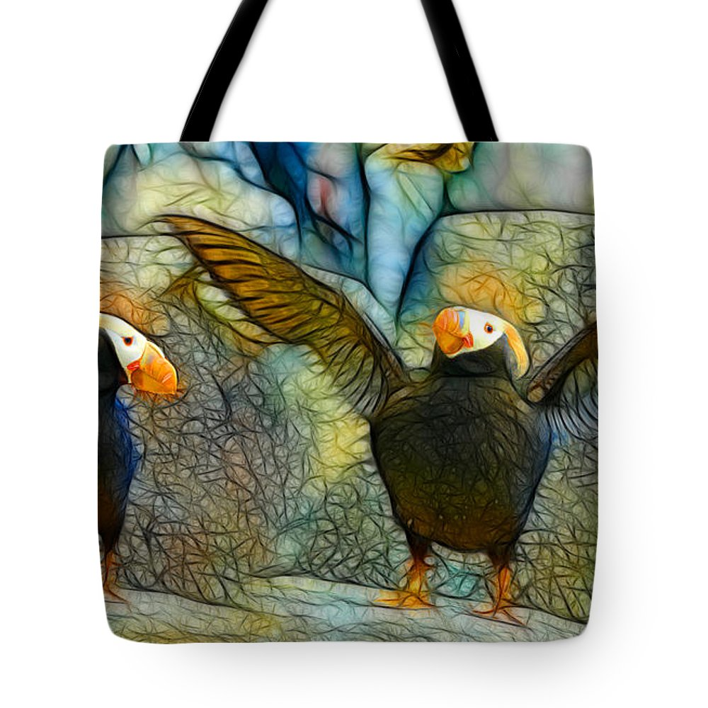 Digital Batik Tote Bag featuring the painting I Love So Much by Francine Dufour Jones