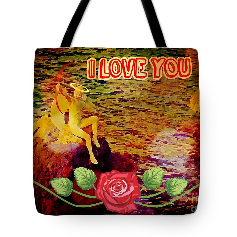 Valentine Card Tote Bag featuring the photograph I Love You Card by John Malone