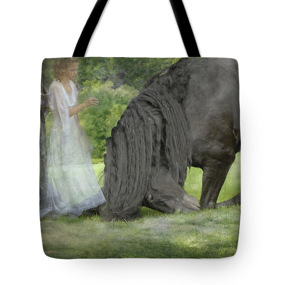 Horses Tote Bag featuring the photograph I Miss You by Fran J Scott