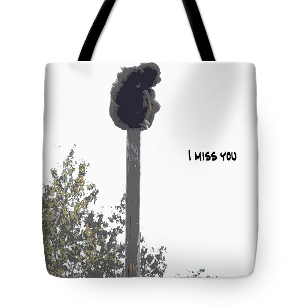 Monkey Tote Bag featuring the photograph I Miss You by Kathy Sampson