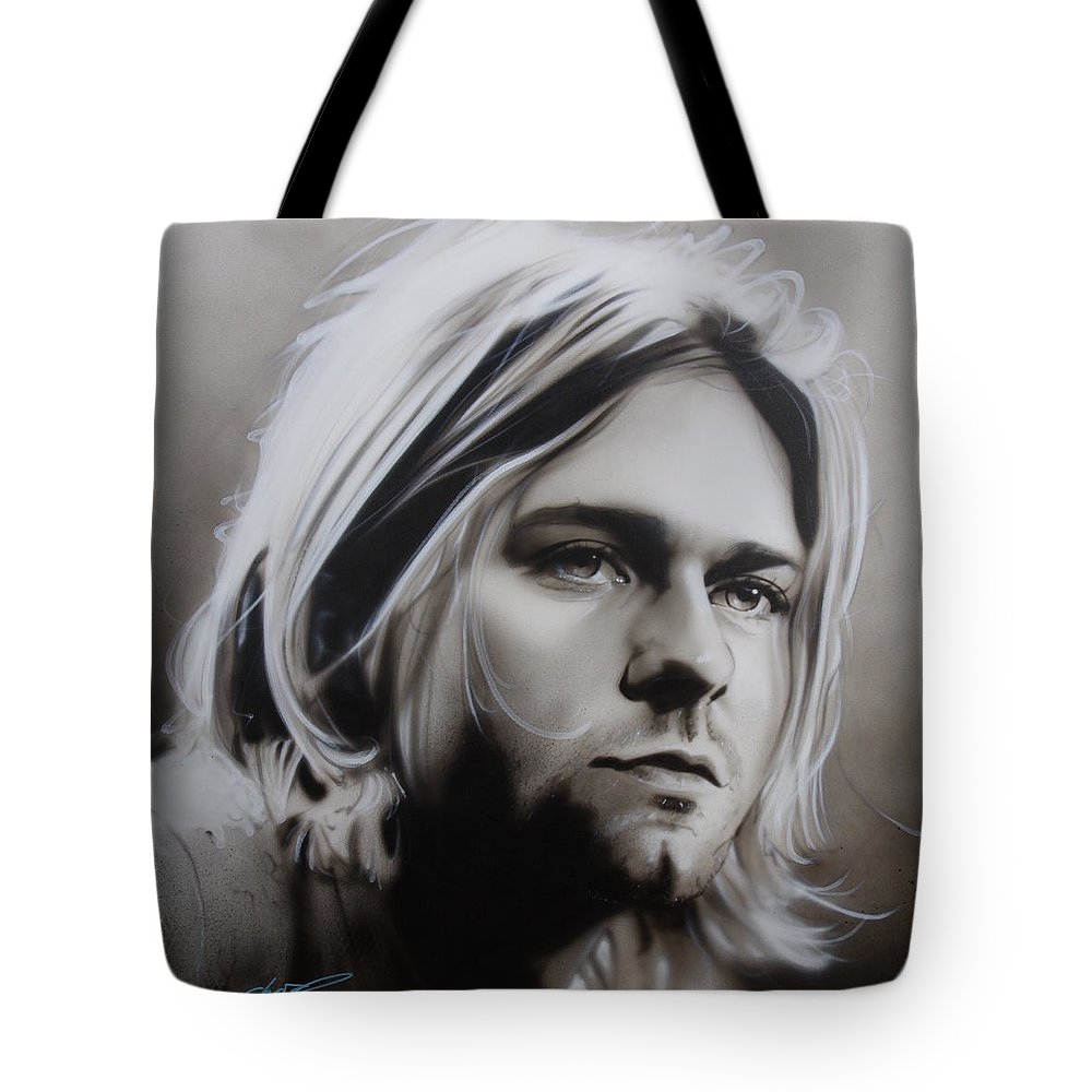 Seattle Tote Bag featuring the painting I Need An Easy Friend by Christian Chapman Art