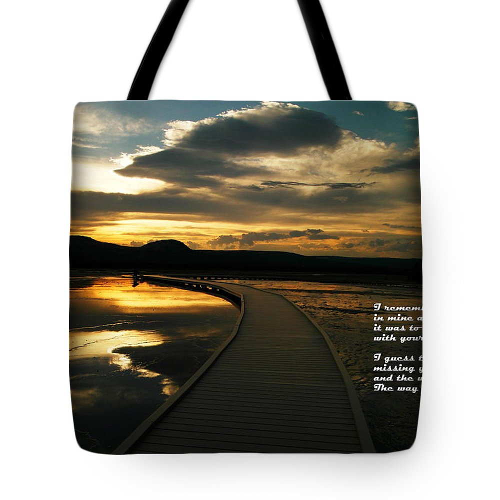 Water Tote Bag featuring the photograph I Remember Your Hand by Jeff Swan