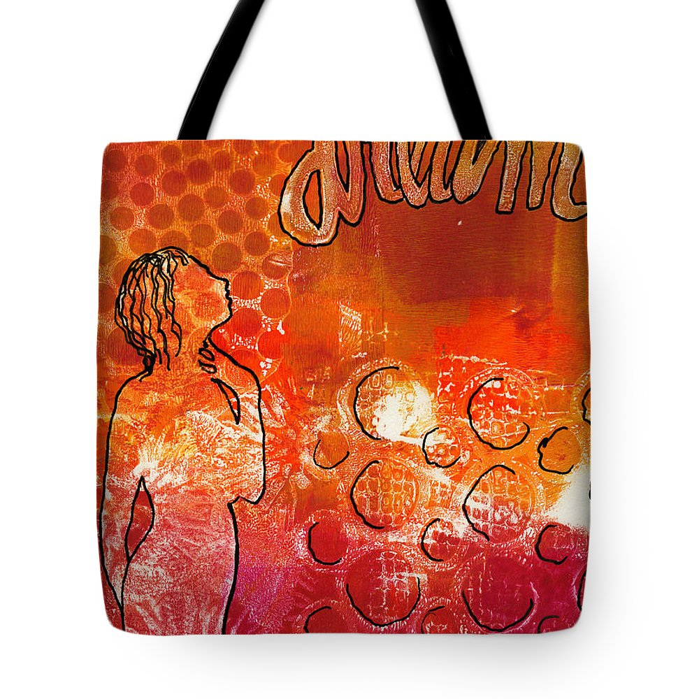 Printing Tote Bag featuring the painting I Too Have A Dream by Angela L Walker