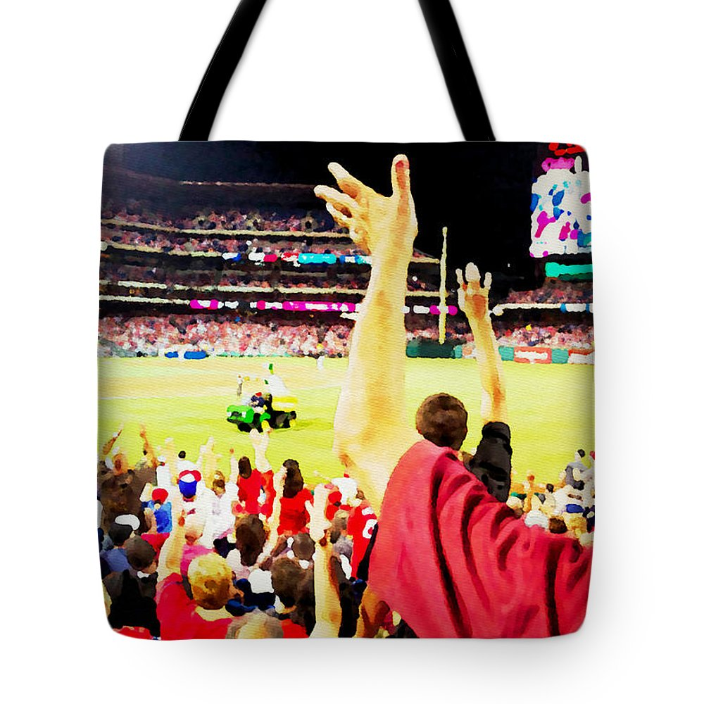 Baseball Game Tote Bag featuring the photograph I Want One by Alice Gipson