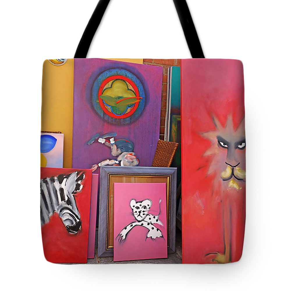 Am Homes Tote Bag featuring the painting I Was Sitting Reading A M Homes by Charles Stuart