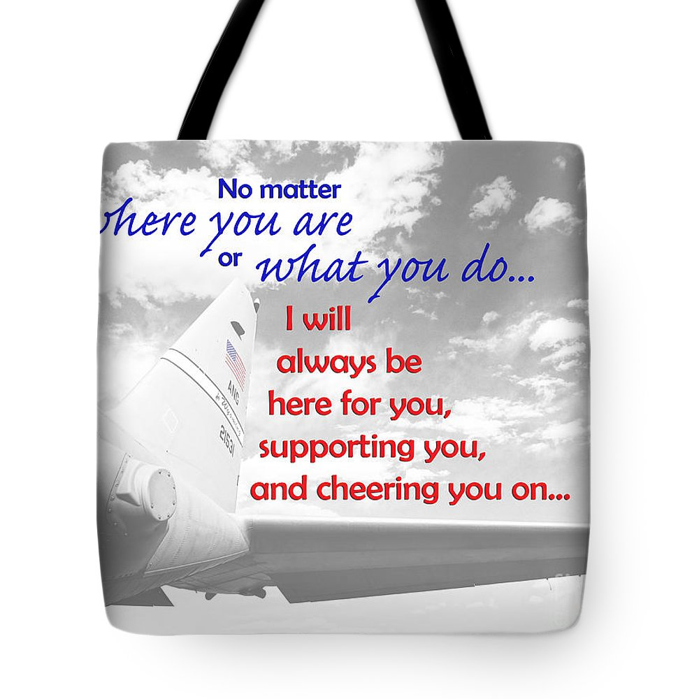 Military Tote Bag featuring the photograph I Will Always Be Here by Korynn Neil