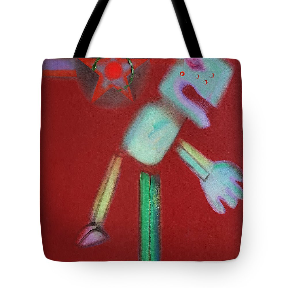 Icarus Tote Bag featuring the painting Icarus Max by Charles Stuart