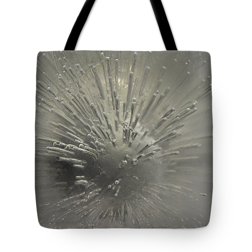 Ice Tote Bag featuring the photograph Ice Abstract II by Shannon Story