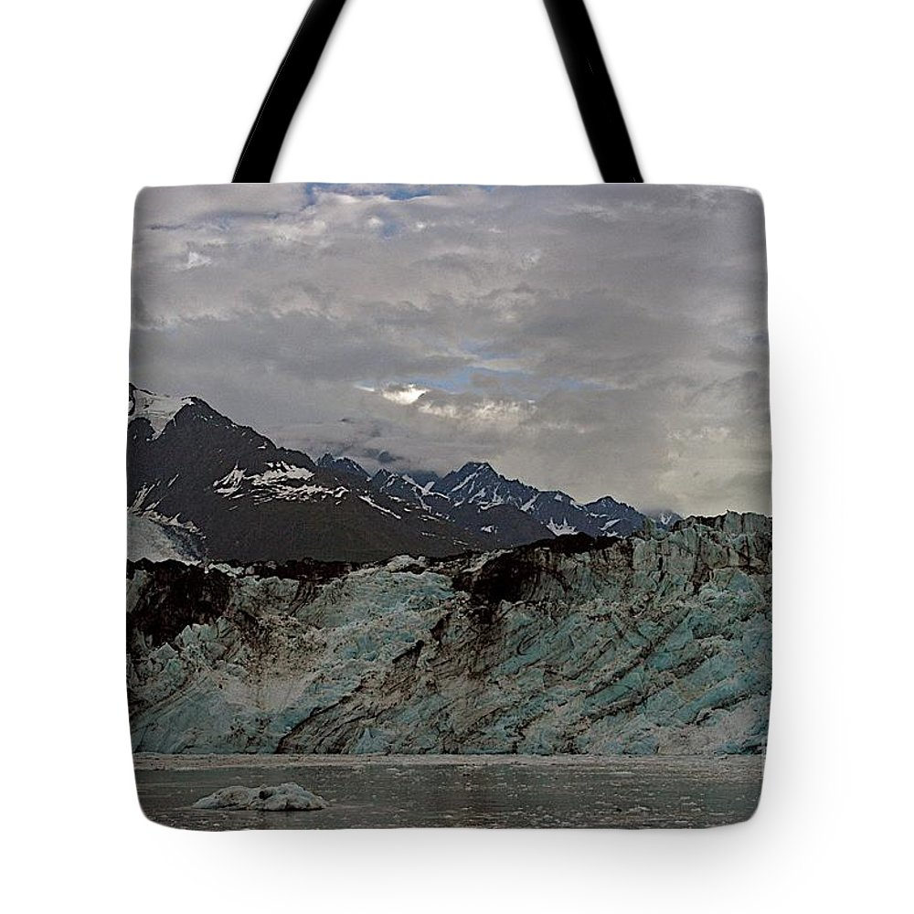 Alaska Tote Bag featuring the photograph Ice And Dirt by Joseph Yarbrough