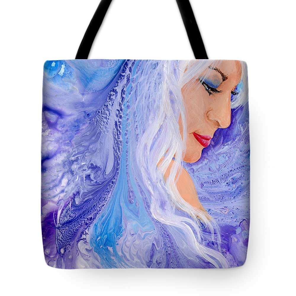 Female Tote Bag featuring the painting Ice Angel by Sherry Shipley