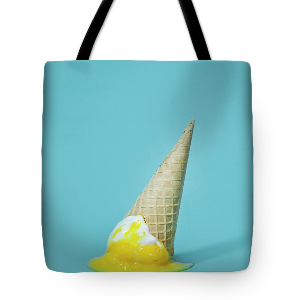 Melting Tote Bag featuring the photograph Ice Cream by All Kind Of Things In Photo