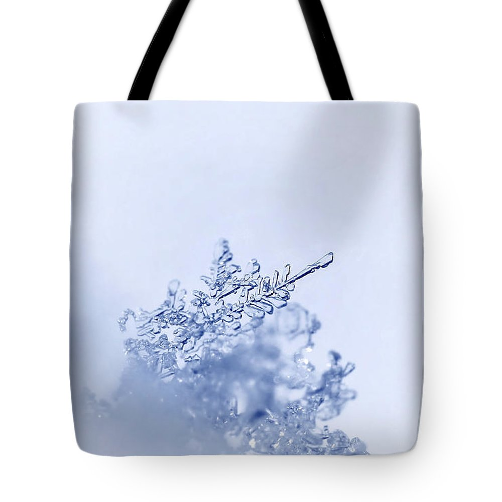 Winter Cold Tote Bag featuring the photograph Ice Crystals by Heike Hultsch