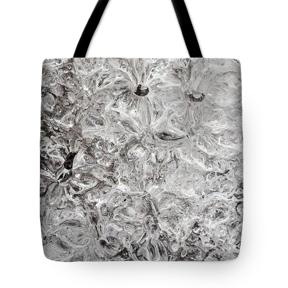 Ice Tote Bag featuring the photograph Ice by Daniel Csoka