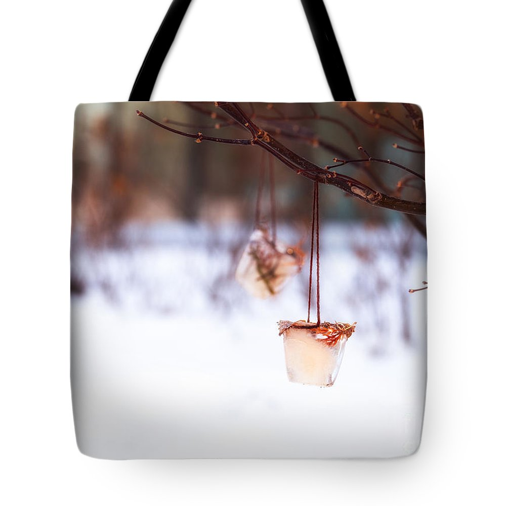 Ice Tote Bag featuring the photograph Ice Decorations IIi by Mary Smyth