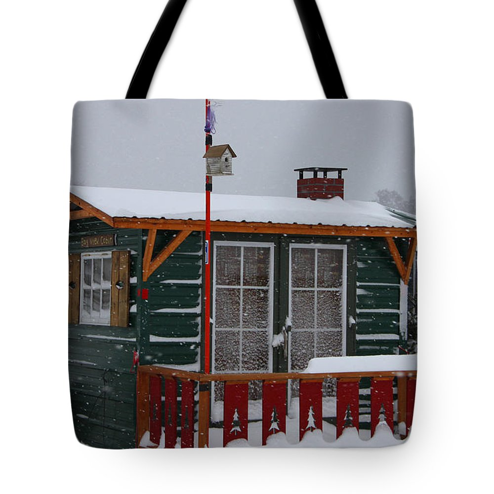 Ice Fishing Derby Tote Bag featuring the photograph Ice Fishing Derby 10 by Michael Mooney