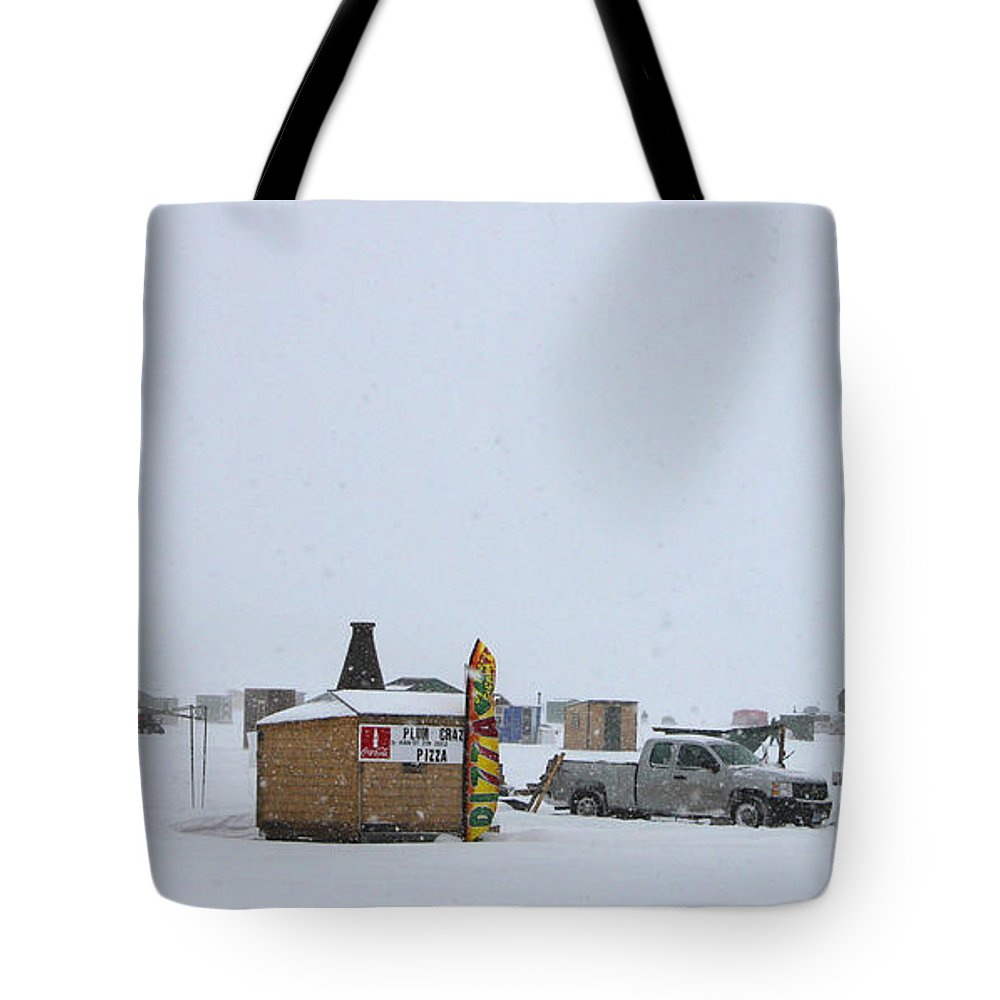 Ice Fishing Derby Tote Bag featuring the photograph Ice Fishing Derby 2 by Michael Mooney