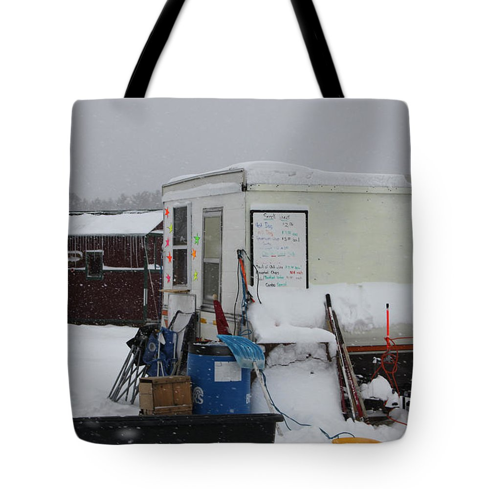 Ice Fishing Derby Tote Bag featuring the photograph Ice Fishing Derby 6 by Michael Mooney