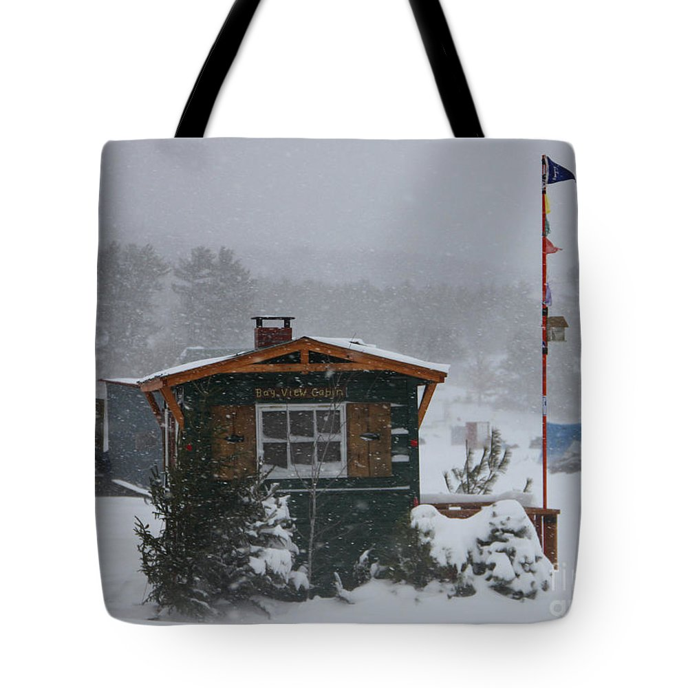 Ice Fishing Derby Tote Bag featuring the photograph Ice Fishing Derby 7 by Michael Mooney