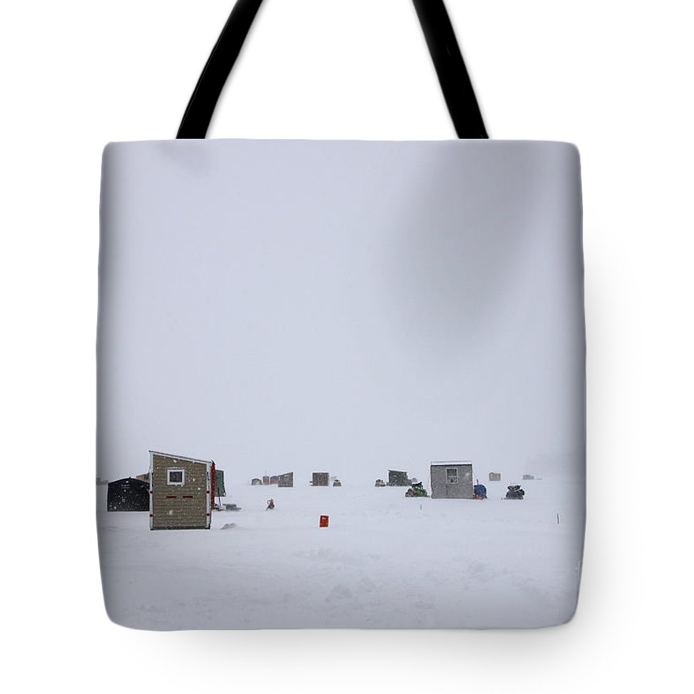 Ice Fishing Derby Tote Bag featuring the photograph Ice Fishing Derby 8 by Michael Mooney