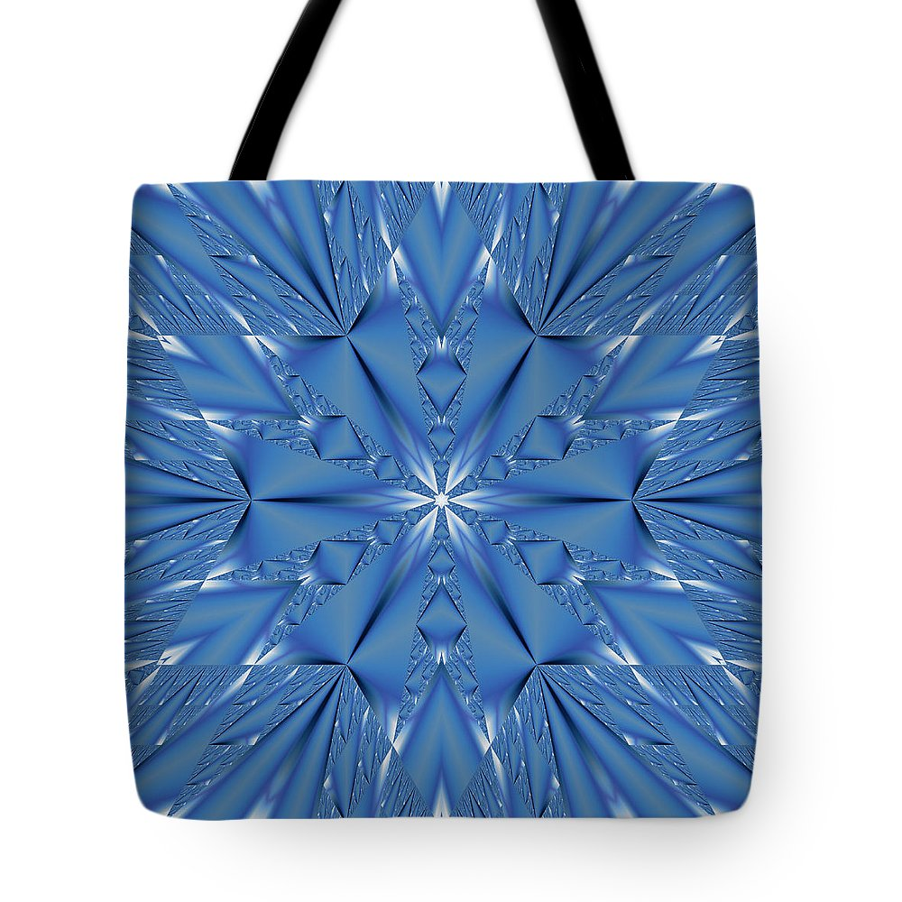 Fractal Tote Bag featuring the digital art Ice Flower Fractal by Judi Suni Hall