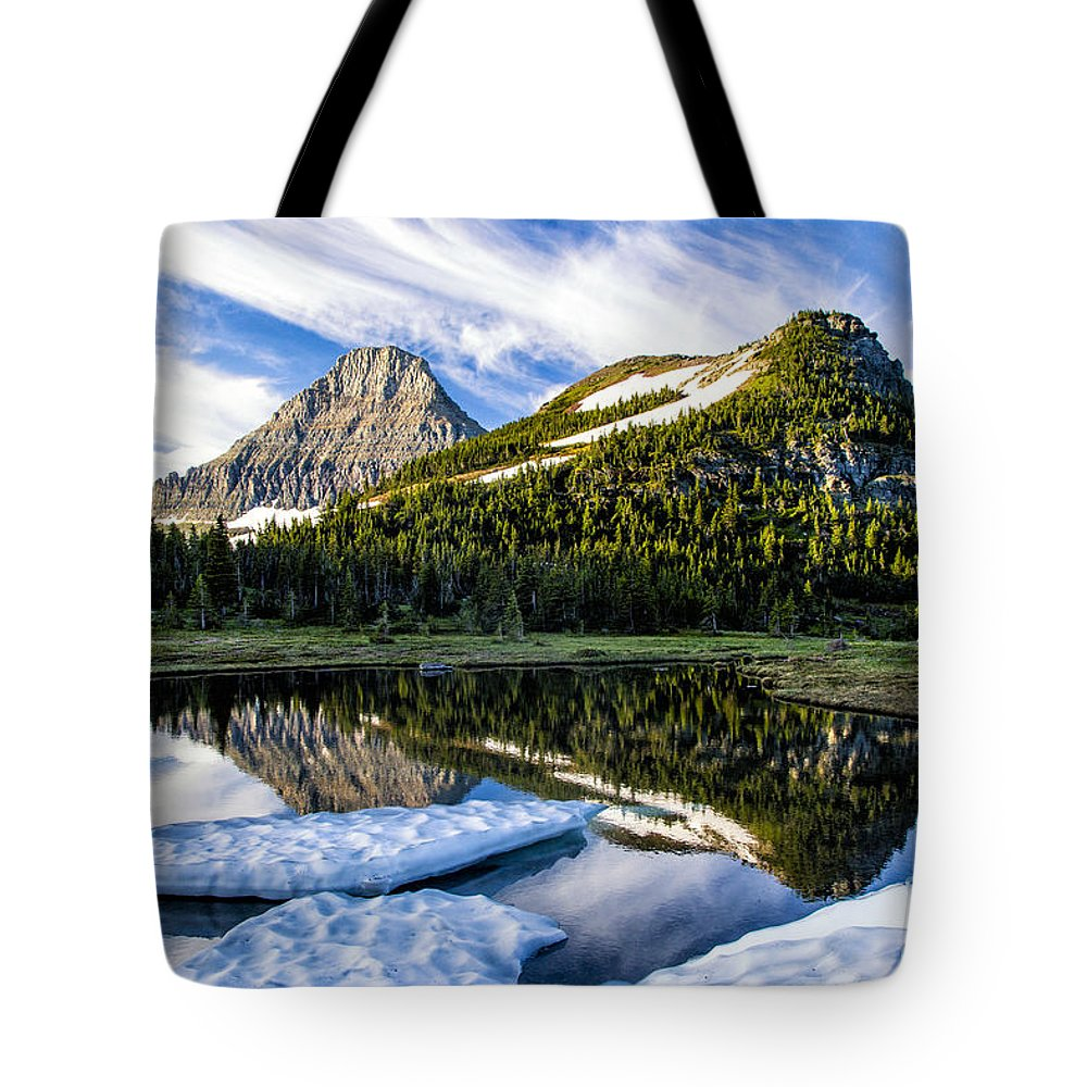 Glacier Tote Bag featuring the photograph Ice Pool by Timothy Hacker